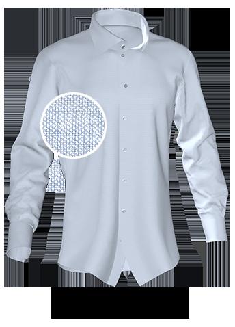 blausilbernes Hemd