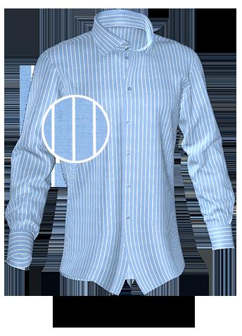 blaugestreiftes Hemd