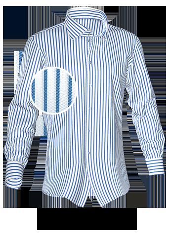 weiß blau gestreiftes Hemd