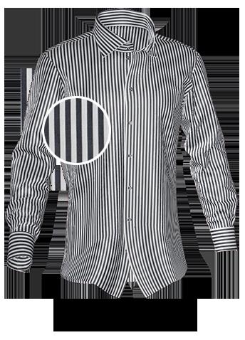 schwarz gestreiftes Hemd