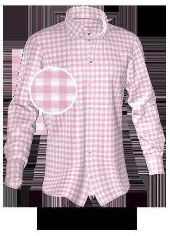 rosa kariertes Hemd