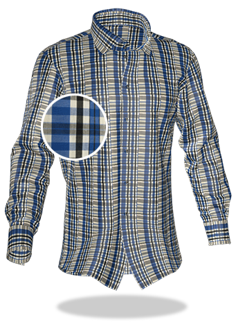 blaukariertes Hemd
