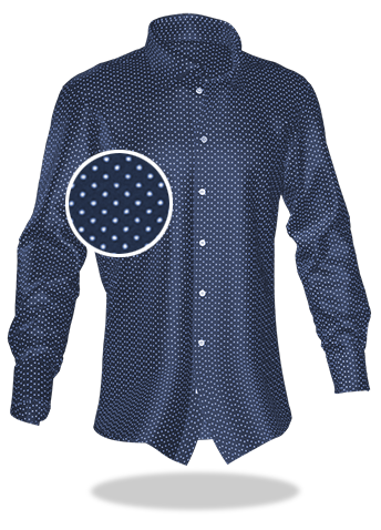 blau gepunktetes Hemd