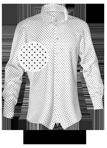 weiß gepunktetes Hemd