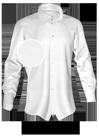 reinweißes Hemd