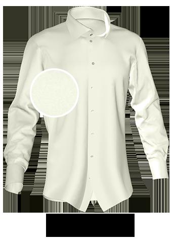 Ivoryfarbenes Maßhemd
