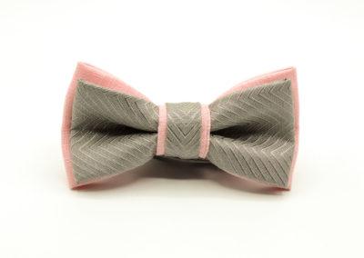 grau rosa Fliege
