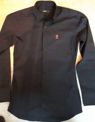 Easy Black Hemd mit Logo Espressolab Nürnberg