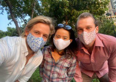 Gesichtsmasken im Hemdenstoff